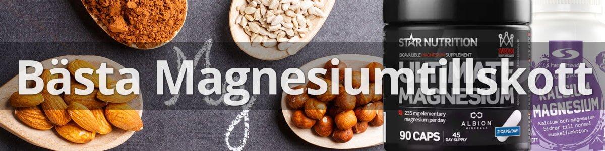 Bästa magnesiumtillskott