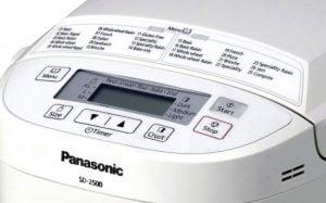 Panasonic SD-2500 display
