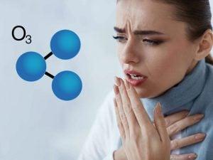 reagerar på ozon