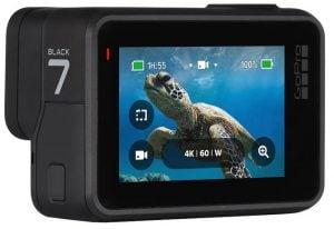 GoPro Hero7 Black baksida med display