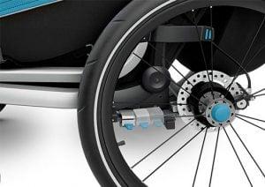 Thule Chariot Sport fjädring och skivbroms