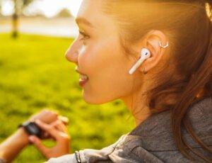 in-ear hörlurar träning