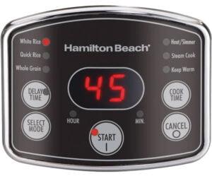 Hamilton Beach 37541 riskokare panel