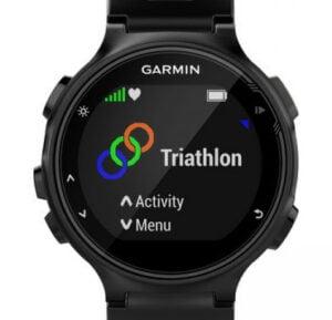 Multisportklocka för triathlon