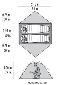 MSR Hubba Hubba NX storlek och mått