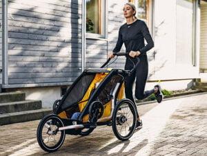 springa med cykelvagn