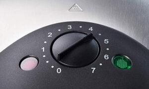 Wilfa våffeljärn med termostat och reglage