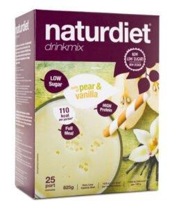 Naturdiet Low Sugar Drinkmix - med smak av päron och vanilj