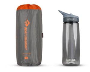 Sea to Summit Ether Light XT Insulated - packning jämfört med vattenflaska