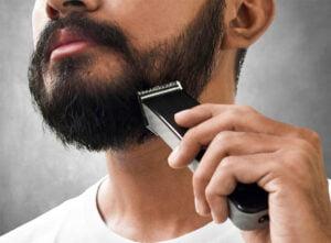 Trådlös skäggtrimmer med batteri