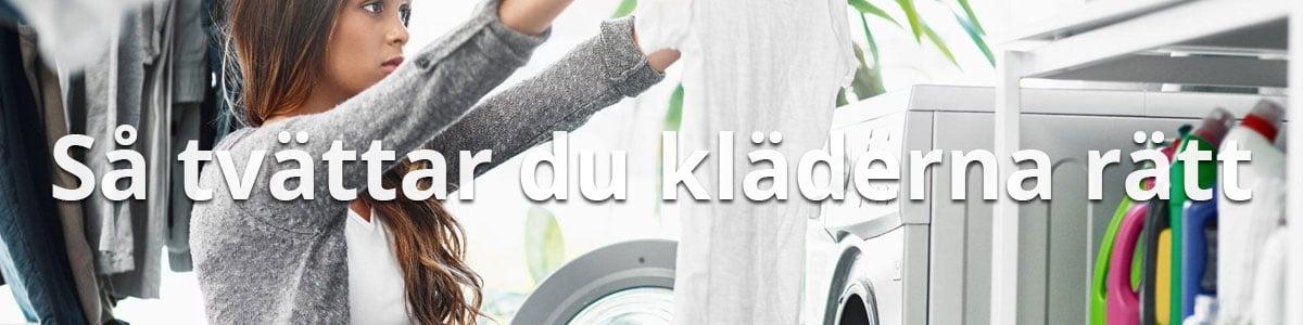 Tvätta kläderna rätt