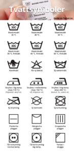 Tvättsymboler / Tvättmärkning
