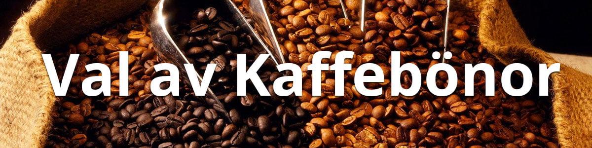 Val av kaffebönor